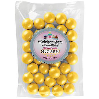 Gumballs Stand-Up Bag 14oz-Shimmer (TM) Yellow SCGUM14-05408