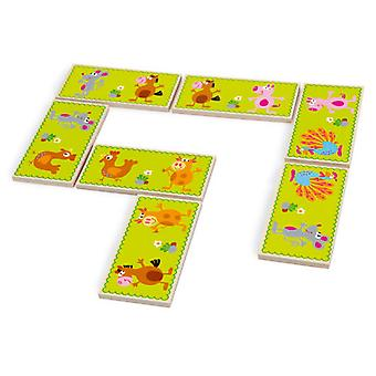Scratch Domino Duo / farm & numbers (Toys , Boardgames , Traditionals)
