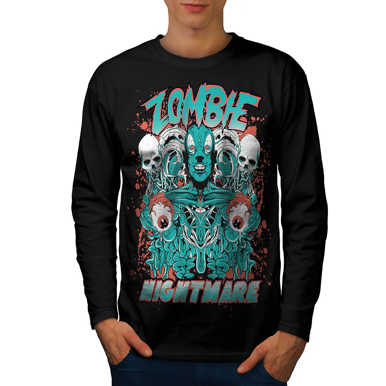 Dead Zombie Nightmare Evil Gang Men Black Long Sleeve T-shirt | Wellcoda