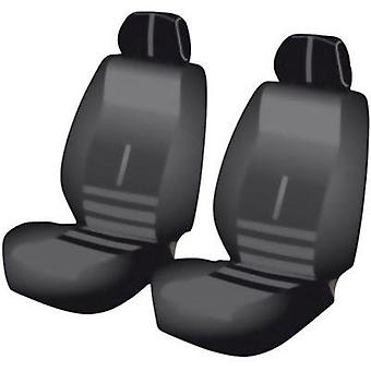 Seat covers 6-piece Unitec 84956 Twin Polyester Black