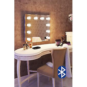 Diamond X Bodenmontage Hollywood Audio Spiegel mit dimmbaren LED-k89LEDaud
