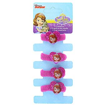 Disney Junior Sofia the First 4 Elastic Hair Bobbles/ Ties