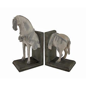 Imperial paard kop en staart ' boekensteunen ' Set van 2