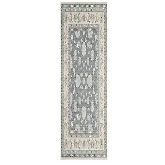Whitby Grey Wool Traditional Area Rug
