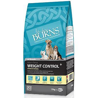 Burns vægt kontrol + voksen & Senior kylling & havre 15kg