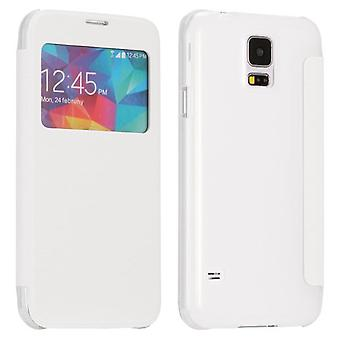 Smart Cover White Window pour Samsung Galaxy S5 G900F plus G901F