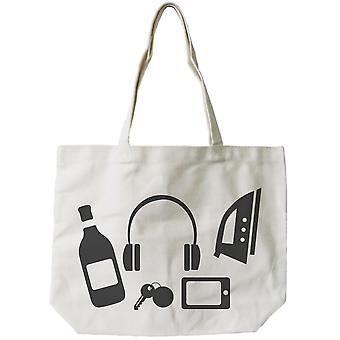 Stock Up Bag Funny Graphic Design Printed Tote Canvas Bag
