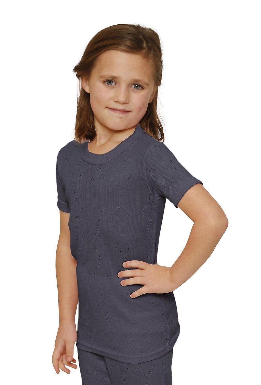 OCTAVE Girls Thermal Underwear Short Sleeve T-Shirt / Vest / Top
