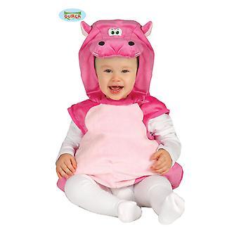 Lyserød flodhest Hippo kostume af Hippopotemes Hippo baby 10-24 måneder