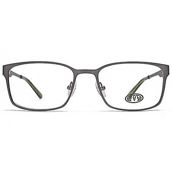 Animal Simmonds Flat Sheet Rectangle Glasses In Gunmetal