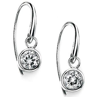 925 Silver Plated Rhodium And Zirconium Trend Earring
