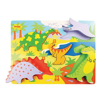 Bigjigs Toys Chunky Lift Out Dinosaurs Puzzle