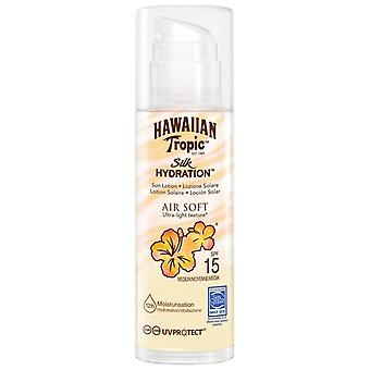 Hawaiian Tropic Hidration Air Soft Silk Texture Ultra Light Sun Lotion Spf15 150 Ml