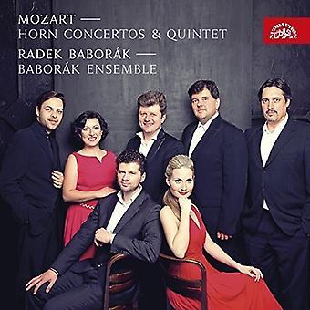Mozart / Baborak, Radek / Baborak Ensemble - Mozart: Horn koncerter & Quintet [CD] USA import