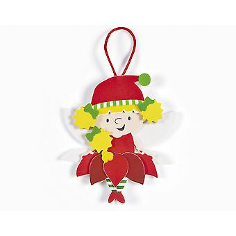 SALE - 12 Hanging Christmas Fairy Ornament Kits - Kid Crafts