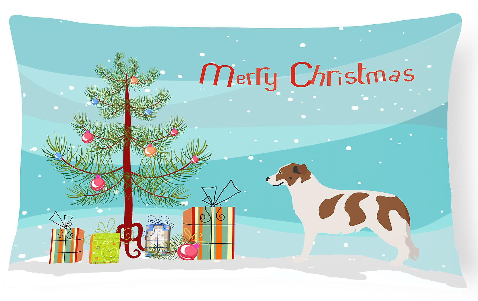 Christmas Dog Mountain Fabric Aidi Pillow Atlas Canvas Decorative AjR3Lq45