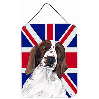 Springer Spaniel with English Union Jack British Flag Wall or Door Hanging Print