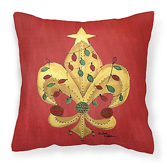 Christmas Fleur de lis Tree with lights Fabric Decorative Pillow