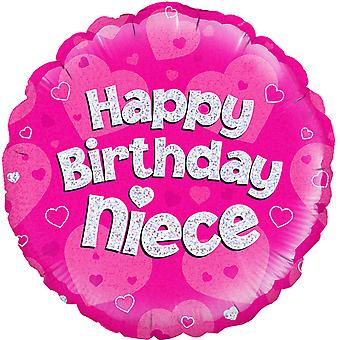 Oaktree 18 Inch Circle Happy Birthday Neice Foil Balloon