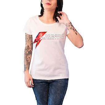 David Bowie T Shirt Aladdin Sane øje Flash officielle dame nye hvid tynd pasform