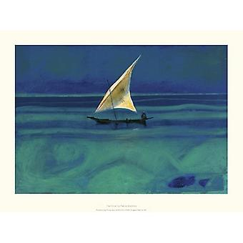 The Dhow Poster Print by Patrick Bradfield (16 x 12)