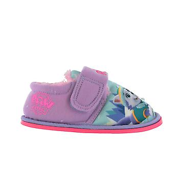Paw Patrol Caldew Flashing Print Lilac Slippers Kids Various Sizes