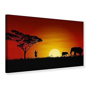 Canvas Print African Steppe Elephant