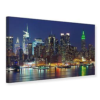 Canvas Print Skyline New York Midtown At Night