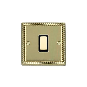 Hamilton Litestat Cheriton Georgian Polished Brass 1g 250W M-Way Touch Mast PB/BL