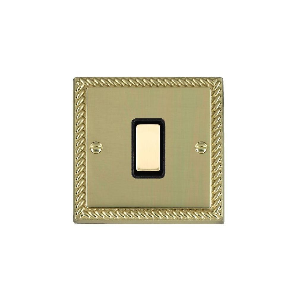 Hamilton Litestat Cheriton Georgian Polished Brass 1g 250W M-Way Touch Mast PB BL