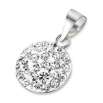 Round - 925 Sterling Silver Jewelled Pendants