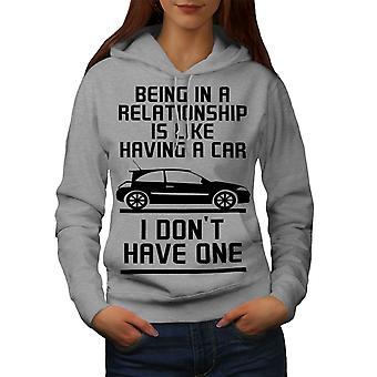 Beziehung Wagen lustige Frauen GreyHoodie | Wellcoda