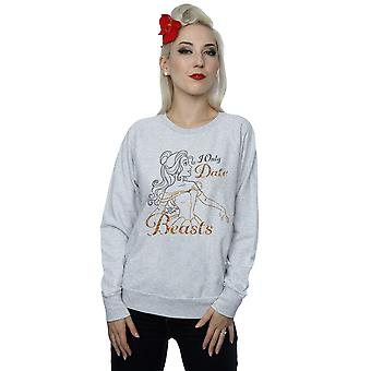 Disney Women's Princess Belle I Only Date Beasts Sweatshirt