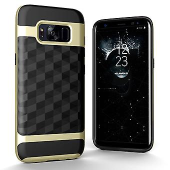 Back cover case cell phone case for Samsung Galaxy S8 cover - cover 3D Prism design gold