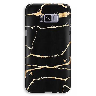 Samsung Galaxy S8 Plus Full Print Case (Glossy) - Gold marble
