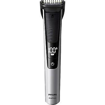 Beard trimmer Philips OneBlade Pro washable Silver, Black