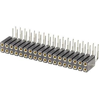 W & P Products Precision Socket Terminal Strip, Pitch 2.54 Number of pins: 2 x 10 Nominal current (details): 3 A