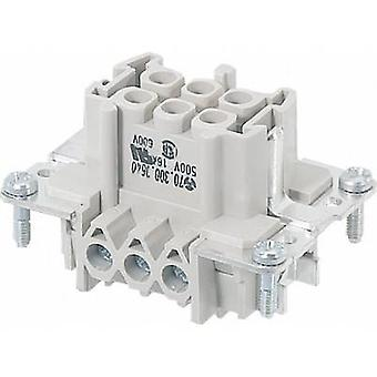 Wieland 70.300.0640.0 70.300.0640.0 Industrial Connector, 6 Pin + PE Socket insert