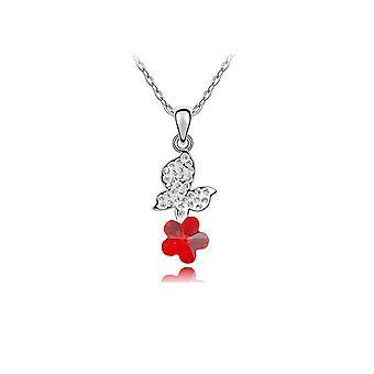 Elementer rød Swarovski krystal sommerfugl vedhæng