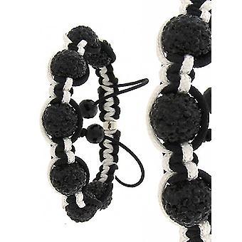 Unisex PAVE ball bracelet - PREMIUM black / white