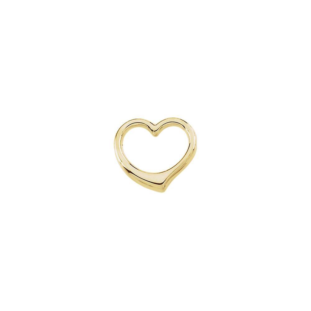 14k jaune or Heart Chain Slide 15.75x16.25mm  - .6 Grams