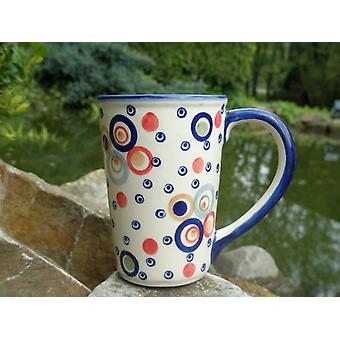Cup approx. 250 ml - 8 cm, height 11 cm, colorful, BSN J-1291