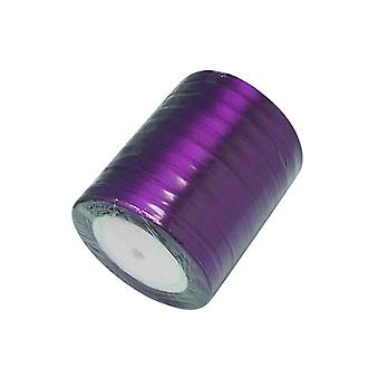1 x dunkel lila Satin 20 m x 7 mm Band Spool HA02774