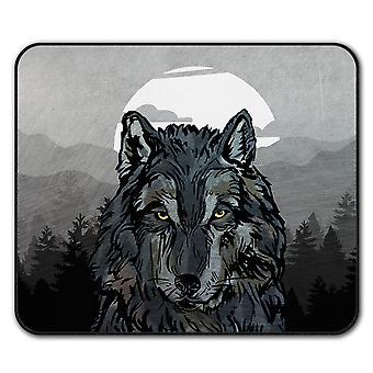 Old Wolf Beast Eye  Non-Slip Mouse Mat Pad 24cm x 20cm | Wellcoda