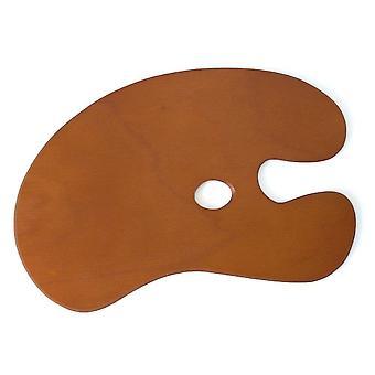伝統的なアーティスト木製腎臓パレット 51 × 38.5 cm