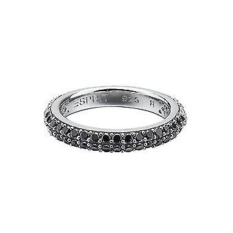 ESPRIT women's ring silver Zirkonia Elegance black ESRG91667B1