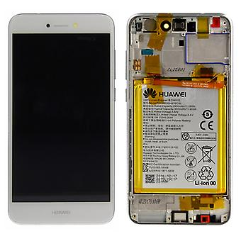 Huawei display LCD unit + frame for P8 Lite 2017 Service Pack 02351DLU white