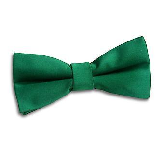 Smaragd grønn ren sateng pre knyttet sløyfe for gutter