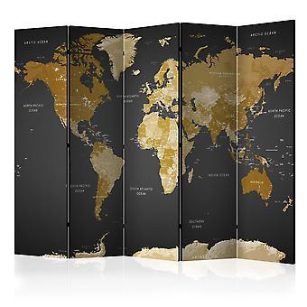 Paravento - Room divider - World map on dark background