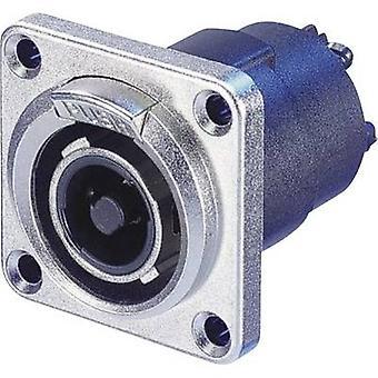 Audio jack Plug, straight Number of pins: 4 Silver Neutrik NLT4FP 1 pc(s)